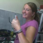Holly giving Foodwhizz Cookery School a thumbs up!